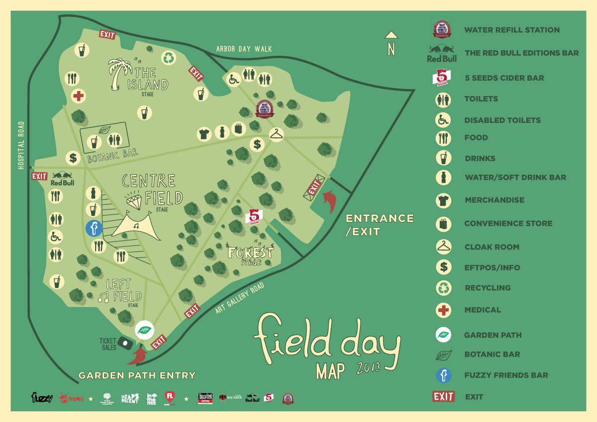 Field Day Map FIELD DAY 2013 PATRON MAP – C h u m p y l y